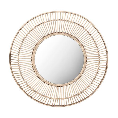 Cebu Round Rattan Mirror