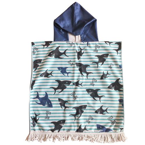 Sharky Kids Hooded Beach Towel