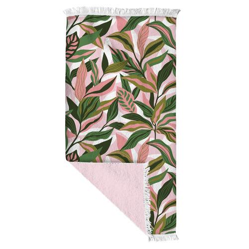 Blush Palm Double Sided Cotton Beach Towel