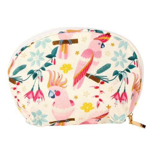 Rose Cockatoo Cosmetic Beach Bag