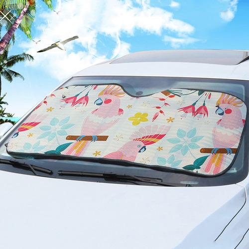 140 x 72cm Rose Cockatoo Car Sunshade