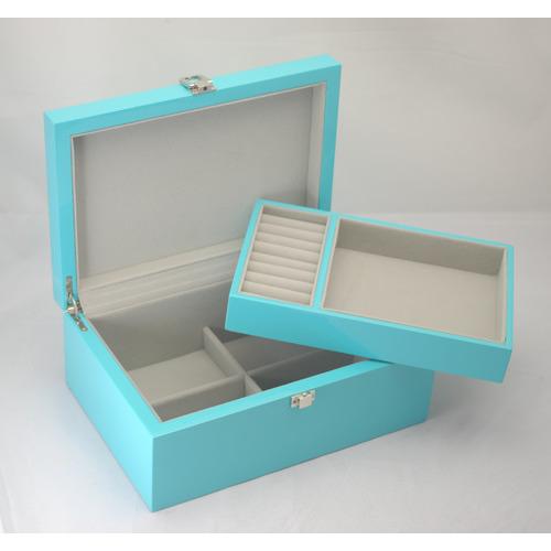 Kandi Medium Teal Blue Kandi Luxury Jewellery Box
