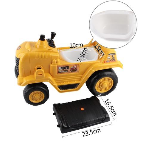 Dwell Kids Kids Ride On Bulldozer Yellow