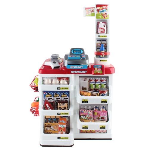 Dwell Kids Supermarket Pretend Play Set Red White