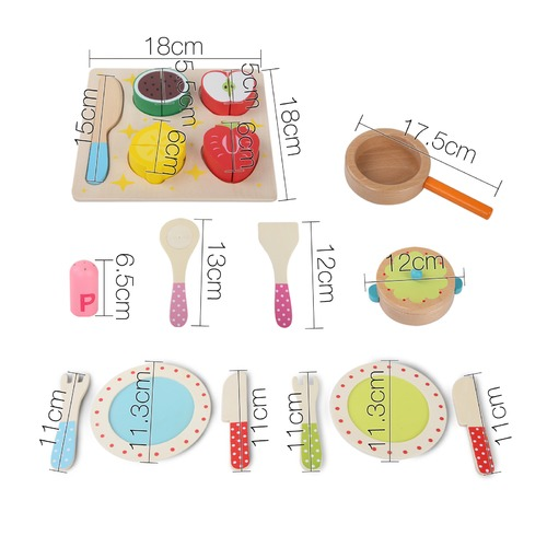Dwell Kids 3 in 1 Children's Wooden Kitchen Set