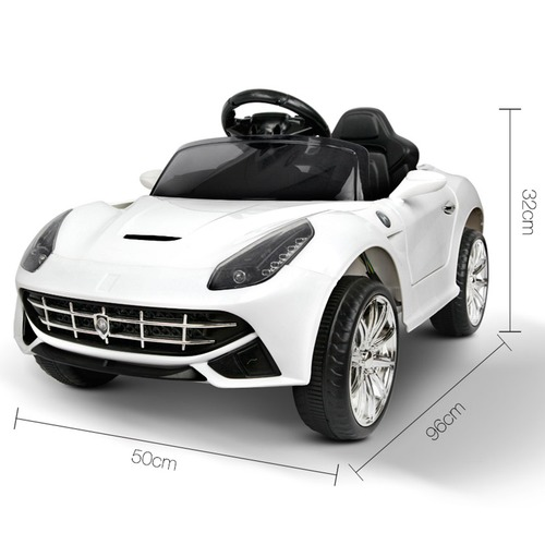 Dwell Kids White Ride-On Toy Sport Car
