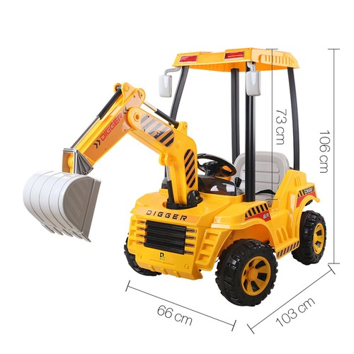 Dwell Kids Yellow Ride-On Toy Digger