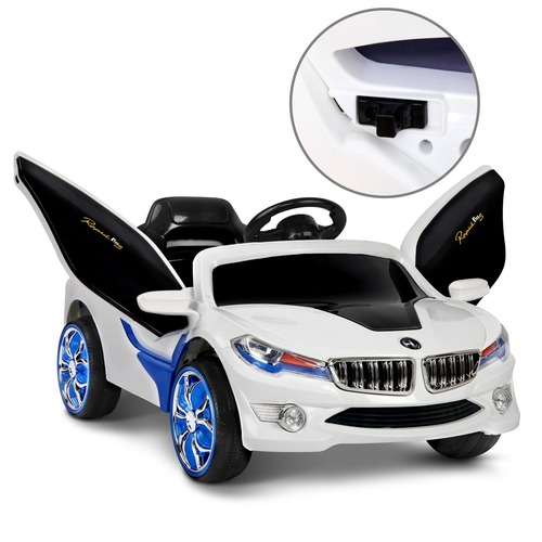 Dwell Kids Blue & White Kids' Ride-On BMW i8 Car