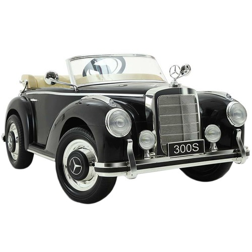 Dwell Kids Black Ride-On Mercedes Benz 300S Toy Car
