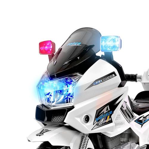 Dwell Kids White Ride-On Harley Model 2 Toy Motorbike