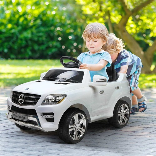 Dwell Kids White Ride-On Mercedes Benz ML350 Toy Car