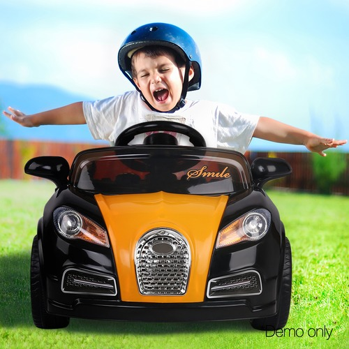Dwell Kids Black & Orange Kids' Ride-On Bugatti Sports Car