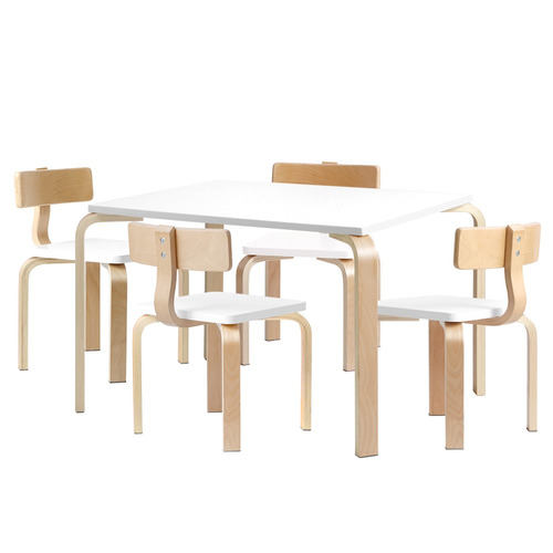 647d447a4dd Areva 4 Seater Kids Wooden Table & Chair Set | Temple & Webster
