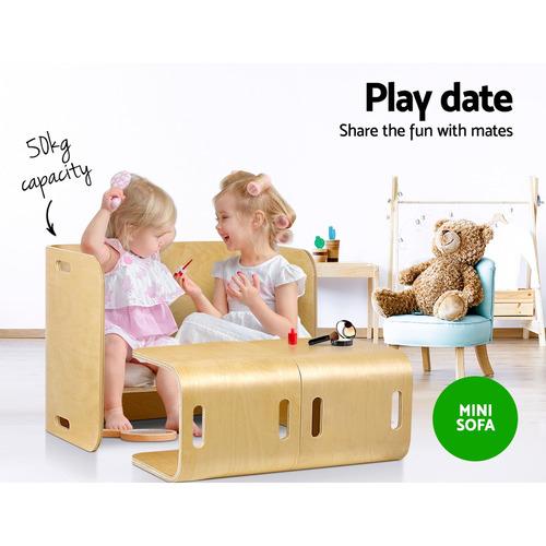 Dwell Kids Ingenico 2 Seater Kids' Wooden Desk & Chair Set