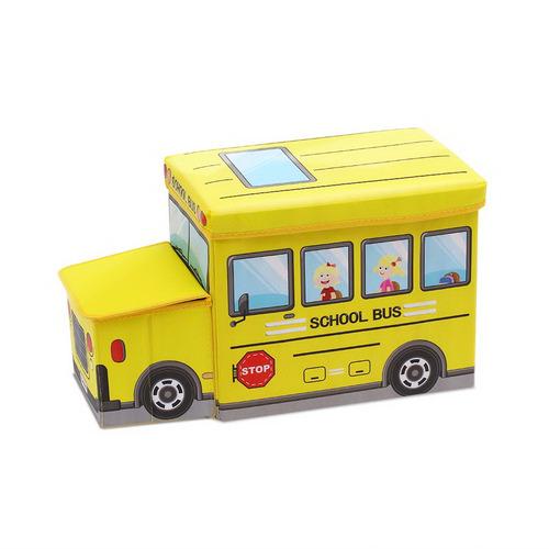 Dwell Kids Yellow School Bus Kids Toy Storage Box