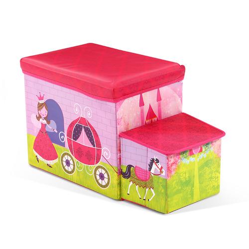 Dwell Kids Pink Princess Kids Storage Ottoman
