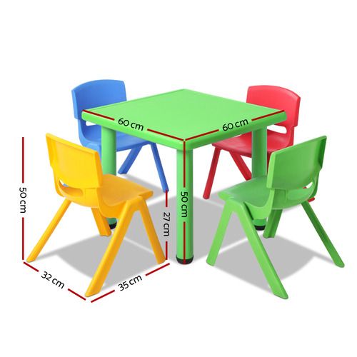 Dwell Kids 4 Seater Perry Kids' Table & Chair Set