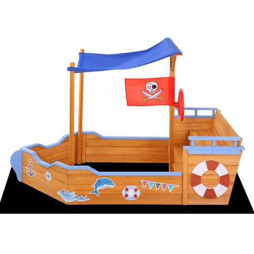 Dwell Kids Kids' Conair Wooden Boat Sand Pit