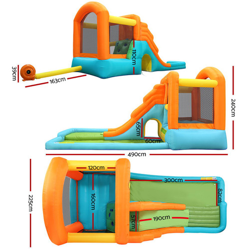 Dwell Kids Kids' Happy Hop Outdoor Inflatable Water Park Slide