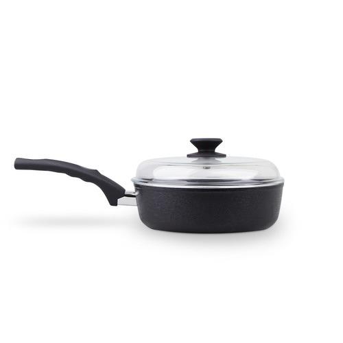 CS KOCHSYSTEME Munster 28cm Non-Stick Deep Fry Pan with Glass Lid