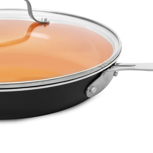 CS KOCHSYSTEME 2 Piece Kupferberg Non-Stick Fry Pan Set with Lids