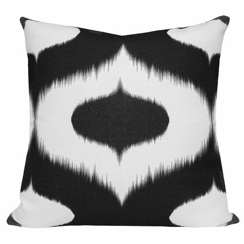 Cushion Bazaar Black Ikat Neveen Cushion