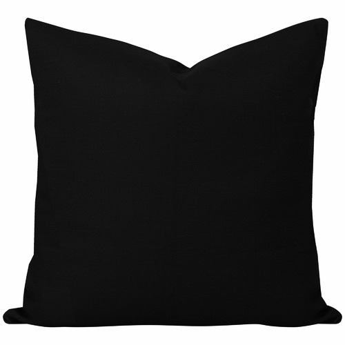 Cushion Bazaar Black Solid Georgia Cushion