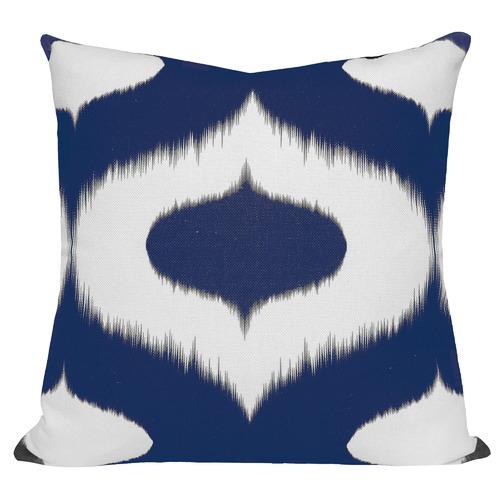 Cushion Bazaar Blue Coastal Ikat Neveen Cushion