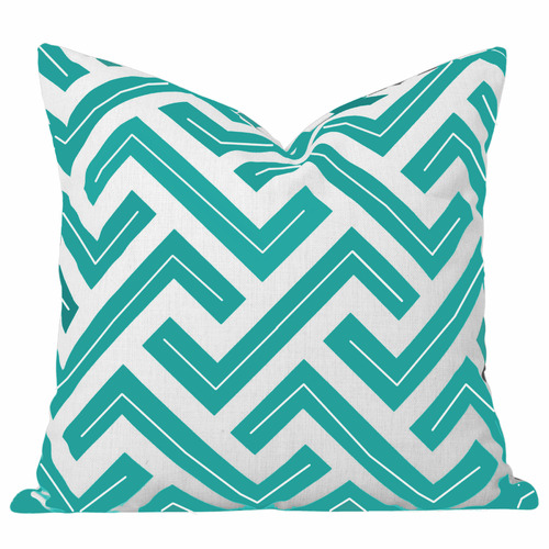 Cushion Bazaar Turquoise Geometric Zedd Cushion
