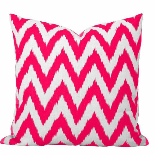 Cushion Bazaar Pink Watermelon Ikat Gaia Cushion