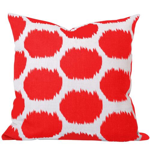 Cushion Bazaar Burnt Orange Dot Ikat Arzu Cushion