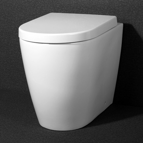 Turner Hastings Narva Ceramic Rimless Floor Mounted Toilet Pan with Soft-Close Seat