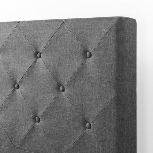 Studio Home Diamond Stitched Charcoal Platform Bed Frame