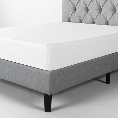 Studio Home Upholstered Diamond Tufted Platform Bed