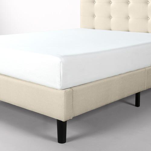 Studio Home Upholstered Button Tufted Platform Bed