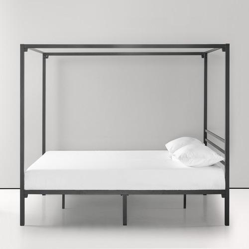 Studio Home Black Cytus Canopy Bed Frame