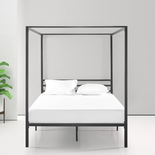 Canopy Bed.Black Cytus Canopy Bed Frame