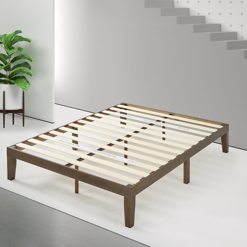 Studio Home Walnut Kaja Rubberwood Bed Frame
