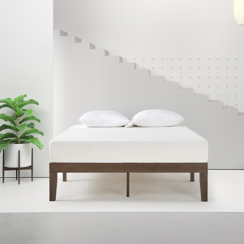 Studio Home Walnut Belvedere Timber Bed Base