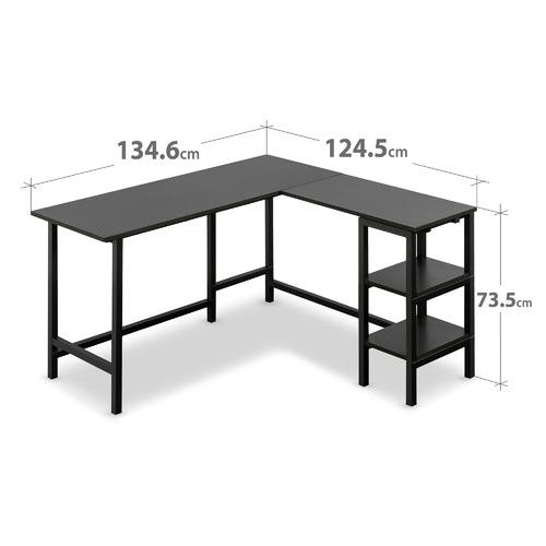 Studio Home Black Urban L-Shaped Desk