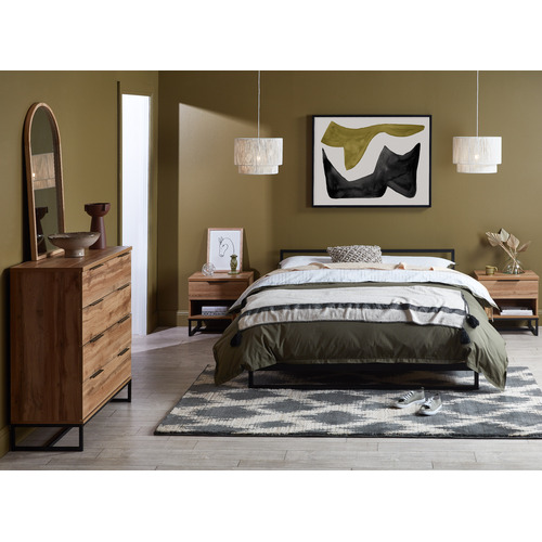 Studio Home Natural Belvedere Wooden Bed Base