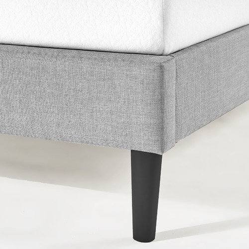 Studio Home Light Grey Laybell Fabric Bed with Headboard