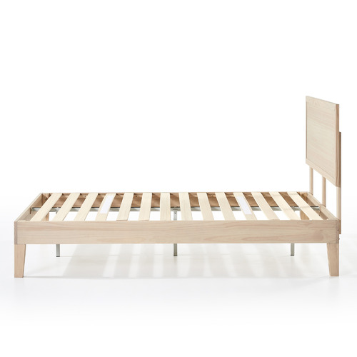 White Wash Fabia Pine Wood Bed
