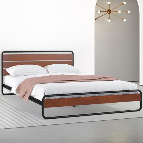 Studio Home Natural Nadia Pine Wood & Steel Bed