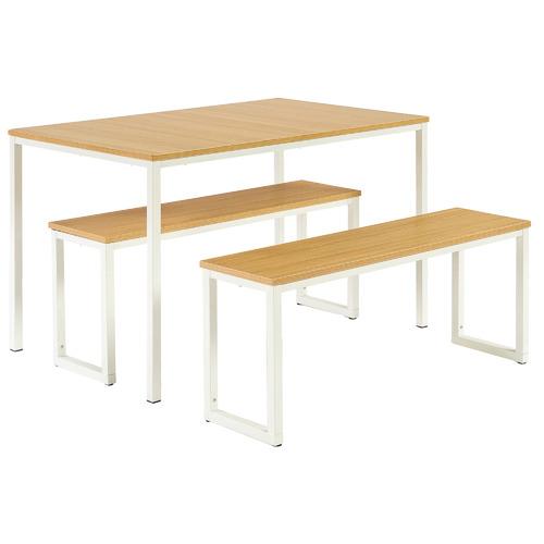 Studio Home 3 Piece Vonda Dining Table & Bench Set
