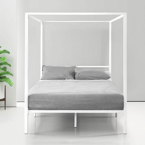 Studio Home White Cytus Canopy Bed Frame