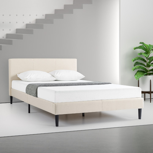 Studio Home Beige Medley Upholstered Bed Frame
