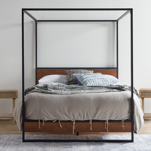 Studio Home Houston Timber and Metal Canopy Four Poster Bed