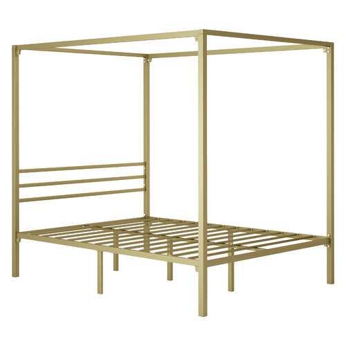 Studio Home Gold Cytus Steel Canopy Bed Frame