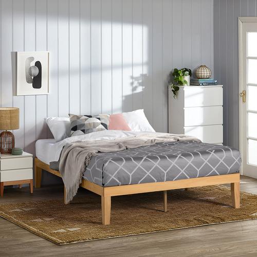 Natural Belvedere Wooden Bed Base